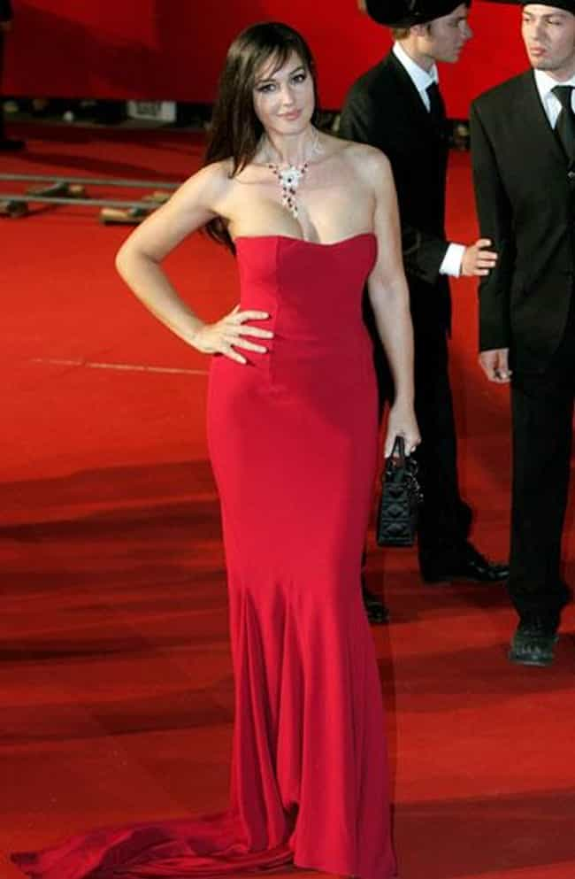 Monica Bellucci is listed (or ranked) 3 on the list The Most Beautiful Celebrity in a Red Dress
