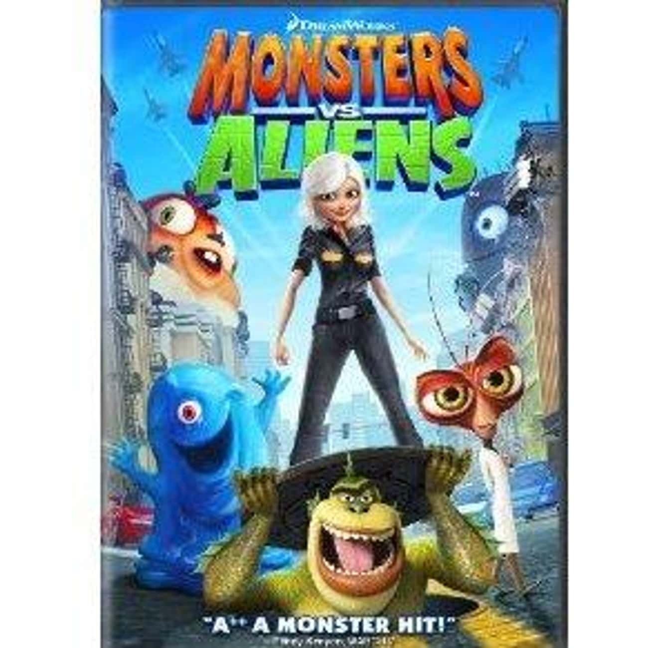 Monsters vs. Aliens is listed (or ranked) 2 on the list The Best Animated Movie Posters