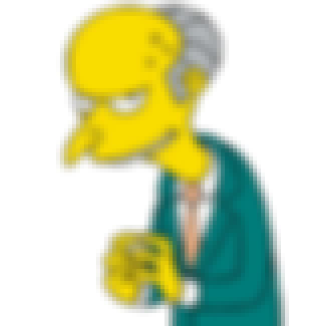 Mr. Burns is listed (or ranked) 2 on the list The Creepiest Characters in TV History