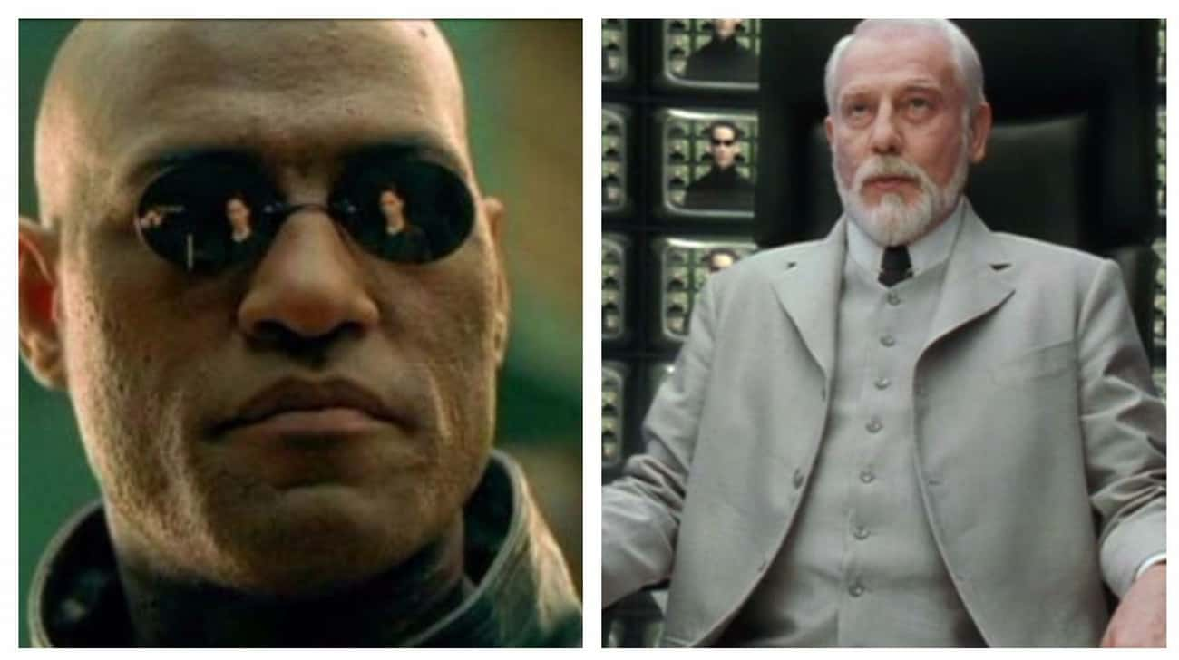 Morpheus And The Architect In  is listed (or ranked) 2 on the list Sean Connery Nearly Played All Of Your Favorite Movie Characters