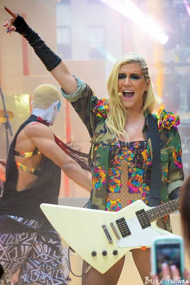Kesha is listed (or ranked) 3 on the list 16 Musicians Who Received Electric Shocks on Stage