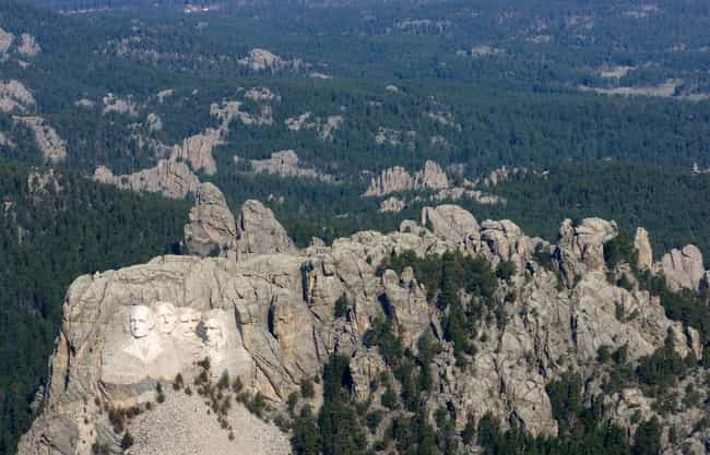 Mount Rushmore National Memori... is listed (or ranked) 2 on the list 30+ Famous Places Seen From a New Perspective