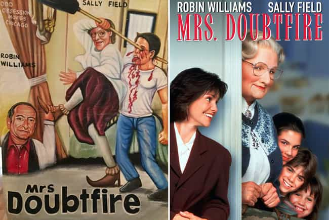 Mrs. Doubtfire is listed (or ranked) 3 on the list Delightfully Inaccurate Movie Posters From Ghana Vs. Their American Counterparts