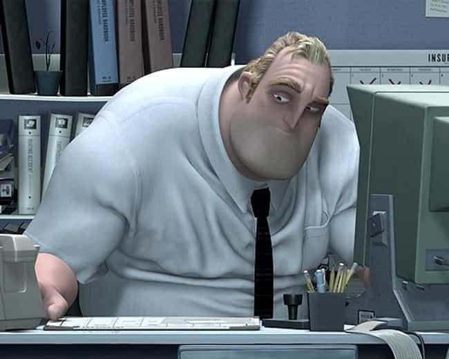 Mr. Incredible is listed (or ranked) 1 on the list The Worst Superhero Day Jobs