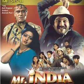 Mr. India is listed (or ranked) 2 on the list The Best Sridevi Kapoor Movies