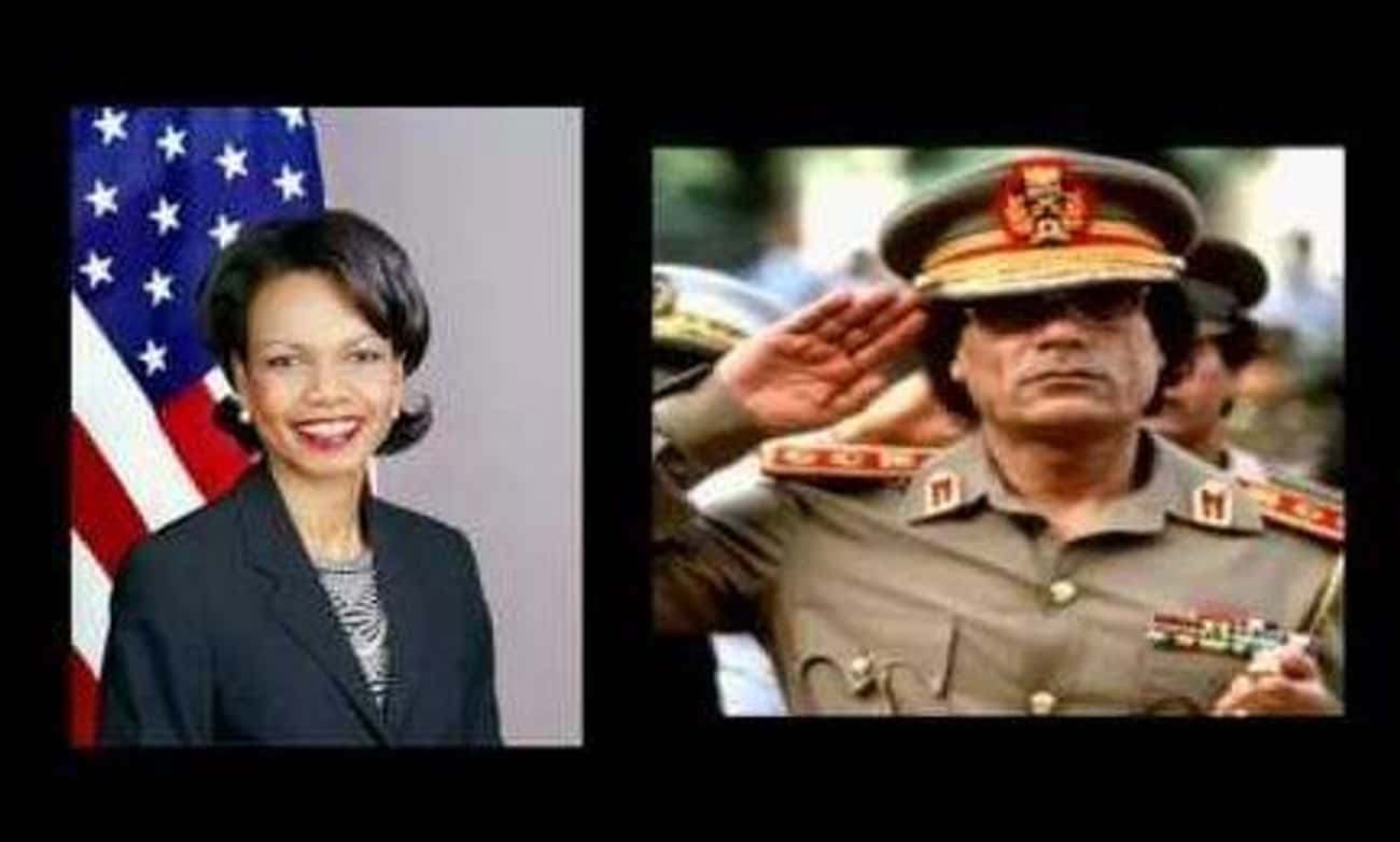 Muammar al-Gaddafi had a serious crush on Condi Rice
