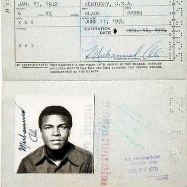 Muhammad Ali is listed (or ranked) 5 on the list Celebrity Passport Photos