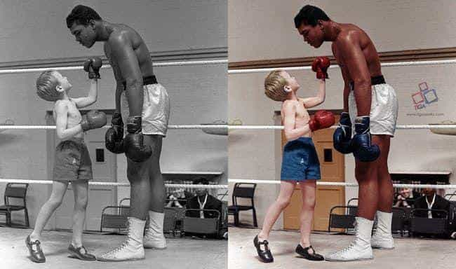 Muhammad Ali is listed (or ranked) 5 on the list 50+ Incredible Colorized Photos from History