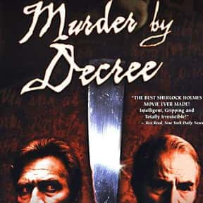 Murder by Decree is listed (or ranked) 14 on the list The Best Donald Sutherland Movies
