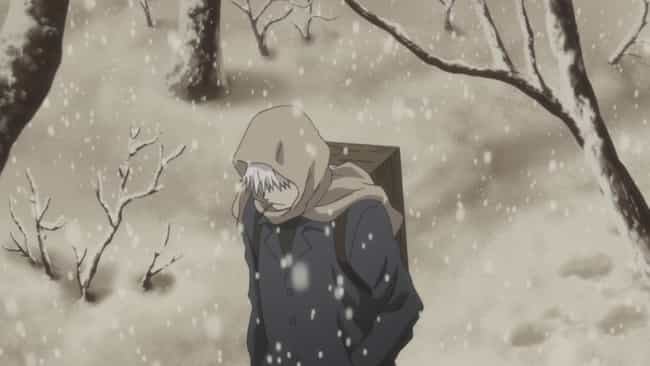 Mushishi is listed (or ranked) 4 on the list 20 Anime Without Fanservice You Can Comfortably Watch In Public