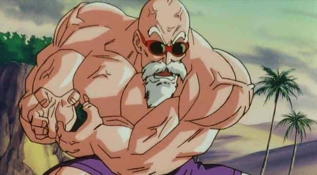 Master Roshi is listed (or ranked) 3 on the list The 16 Most Impressive Physiques In Anime
