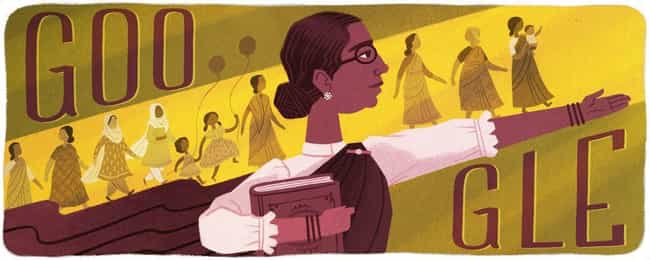 Muthulakshmi Reddi is listed (or ranked) 1189 on the list Every Person Who Has Been Immortalized in a Google Doodle