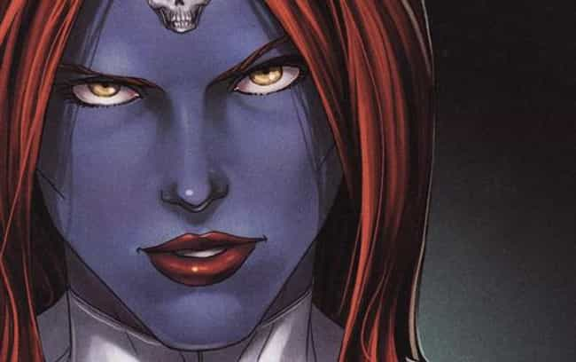Mystique is listed (or ranked) 3 on the list The Most Promiscuous Superheroes in Comics