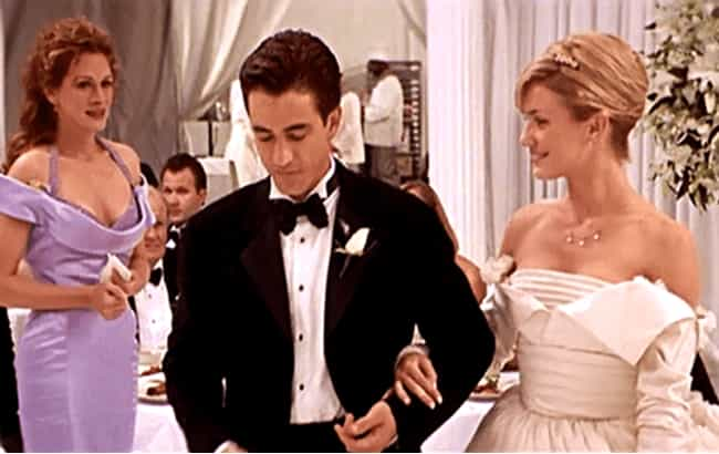 My Best Friend's Wedding is listed (or ranked) 3 on the list The Worst Wedding Dresses In Romantic Comedy History