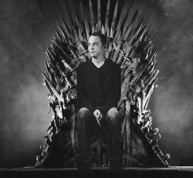 Sheldon Cooper is listed (or ranked) 7 on the list 26 Famous People Sitting On The Iron Throne