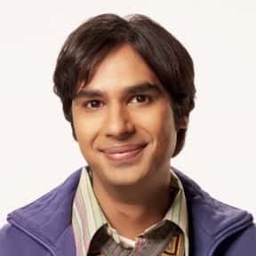 Raj Koothrappali is listed (or ranked) 6 on the list The Greatest Token Minority Characters in Sitcoms