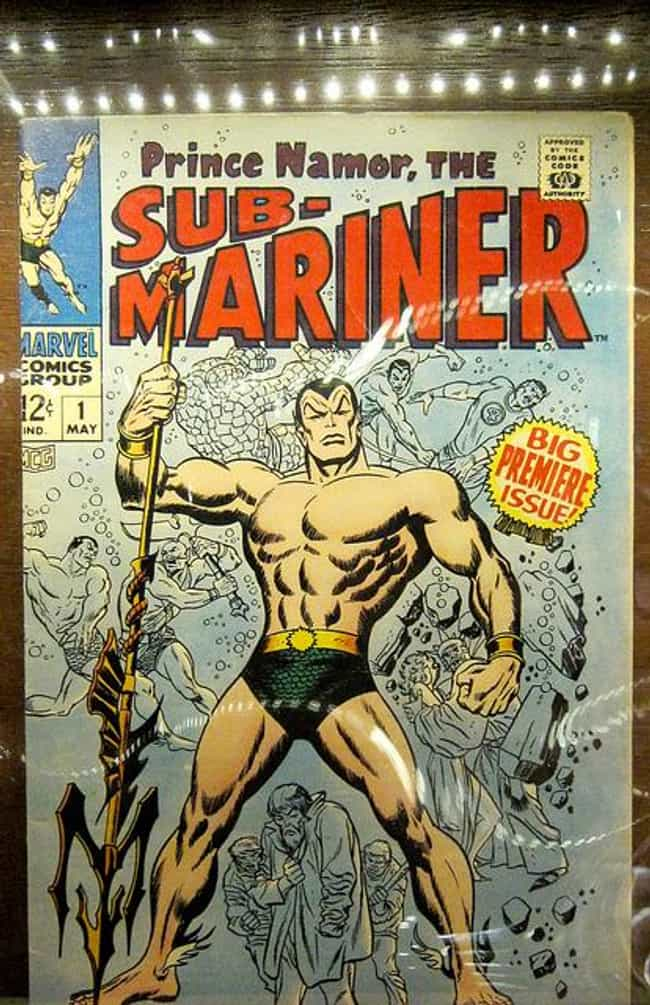 Namor is listed (or ranked) 2 on the list The 20 Richest Comic Book Characters of All Time
