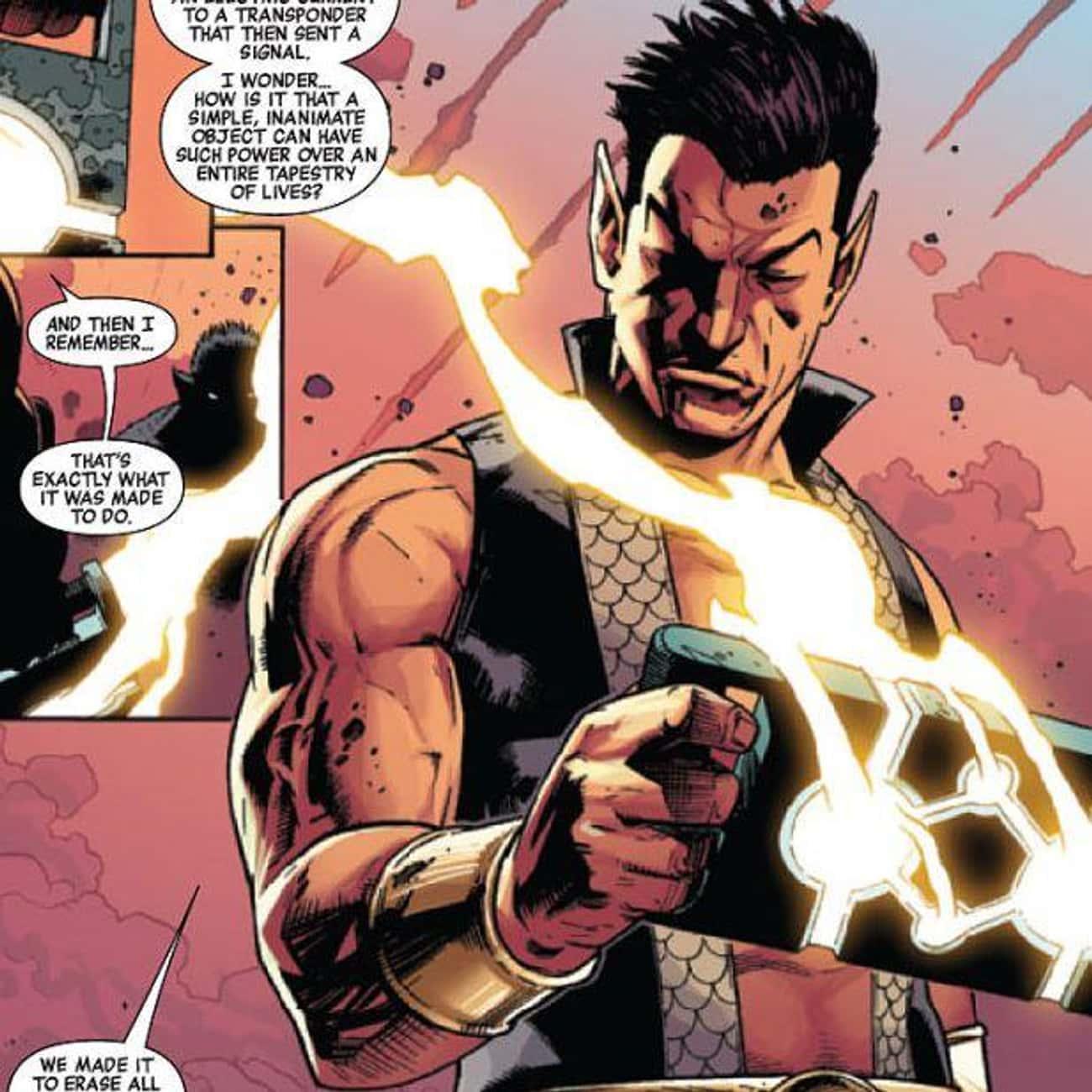 Namor is listed (or ranked) 2 on the list Half-Human Hybrid Heroes