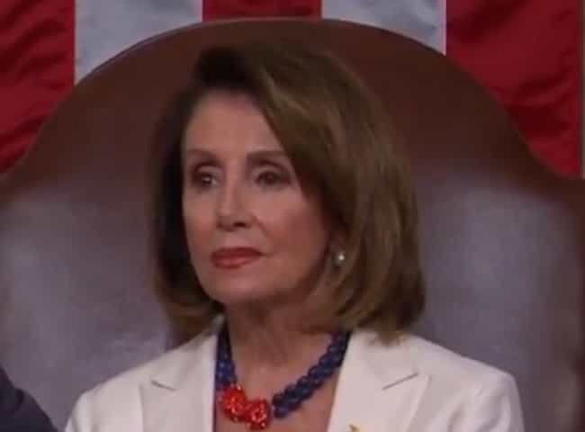 Nancy Pelosi is listed (or ranked) 4 on the list US Politicians' Reactions To President Trump's State Of The Union