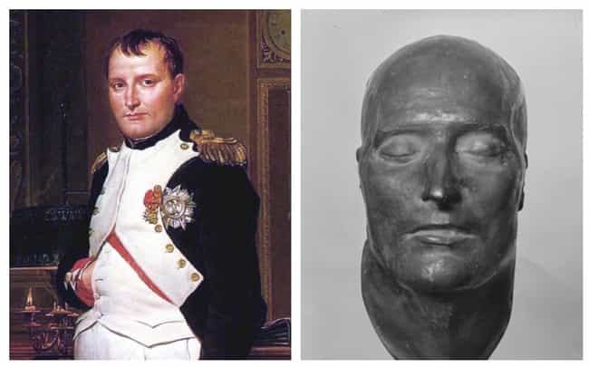 Napoleon Bonaparte is listed (or ranked) 3 on the list 17 Plaster Face Molds Of Famous Historical Figures That Were Made Moments After They Died