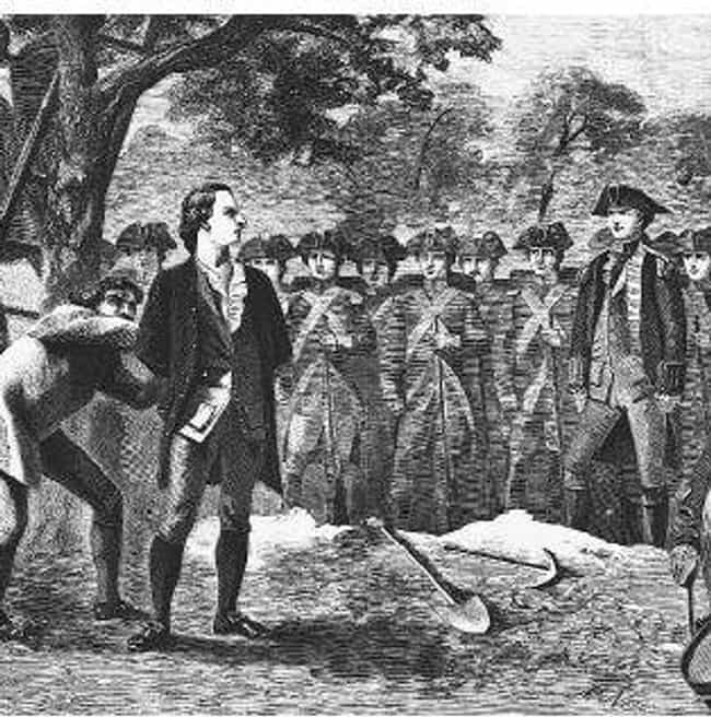 Nathan Hale is listed (or ranked) 3 on the list 12 Historical Figures Whose Deaths Were Outrageously Exaggerated