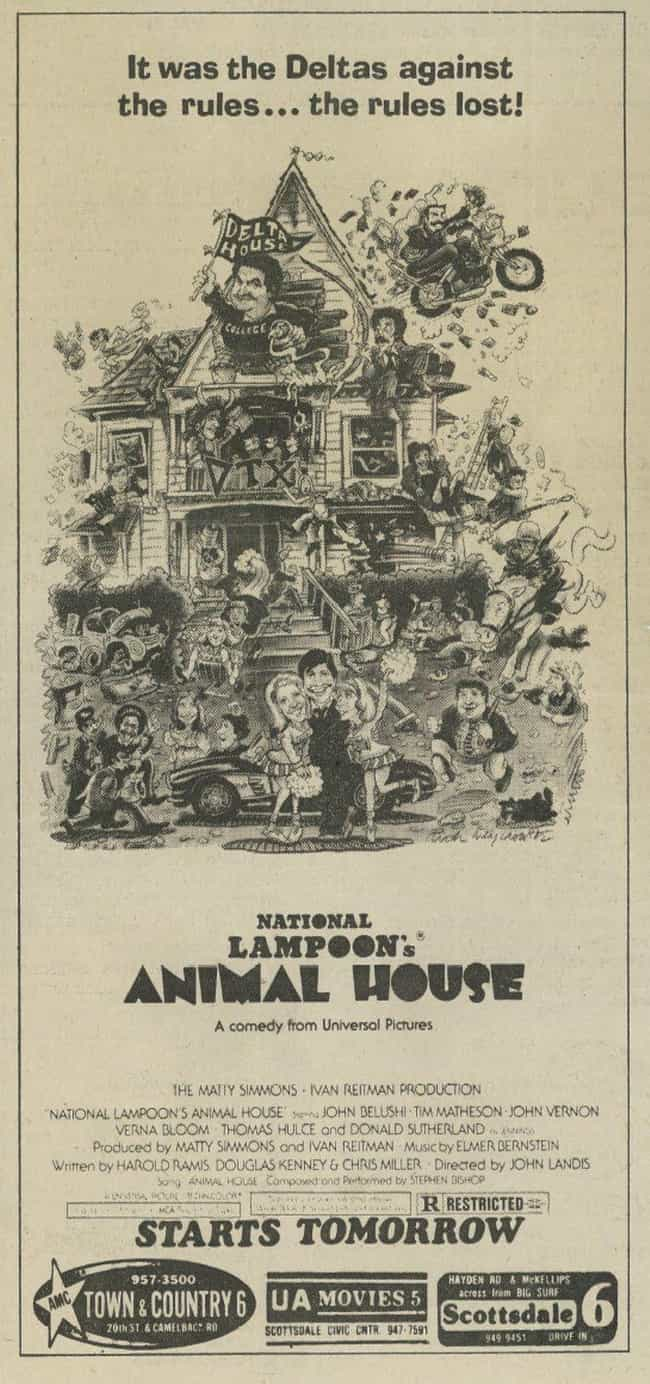 National Lampoon's Animal Hous... is listed (or ranked) 4 on the list The Best Movies to Watch While Drinking