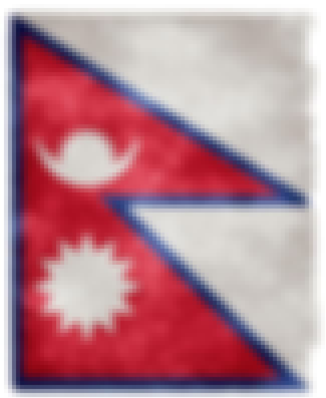 Nepal is listed (or ranked) 4 on the list The Coolest National Flags