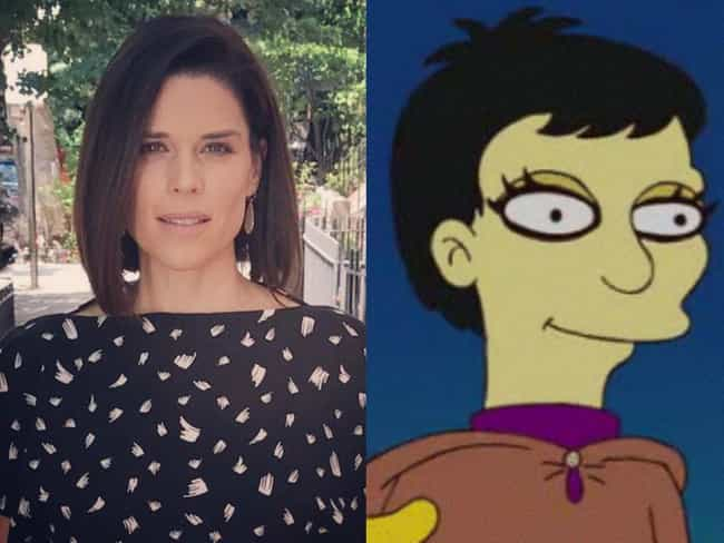 Neve Campbell is listed (or ranked) 4 on the list Horror Icons Who Guest Starred On 'The Simpsons'