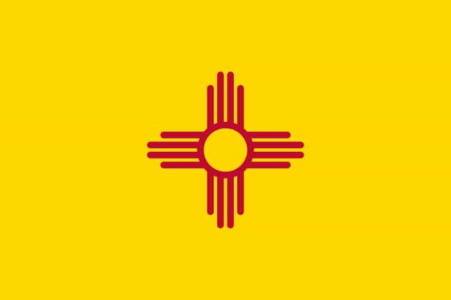 New Mexico is listed (or ranked) 3 on the list The Best US State Flag