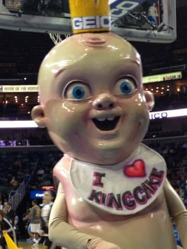 New Orleans Pelicans is listed (or ranked) 1 on the list The Creepiest Sports Mascots