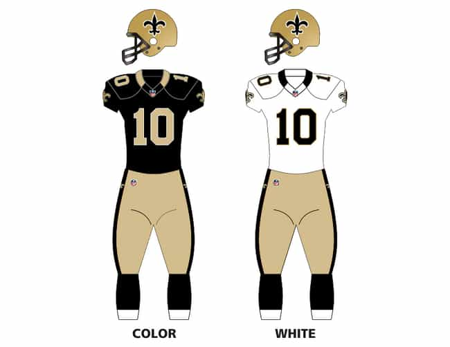 New Orleans Saints is listed (or ranked) 1 on the list The Best Uniforms in the NFL