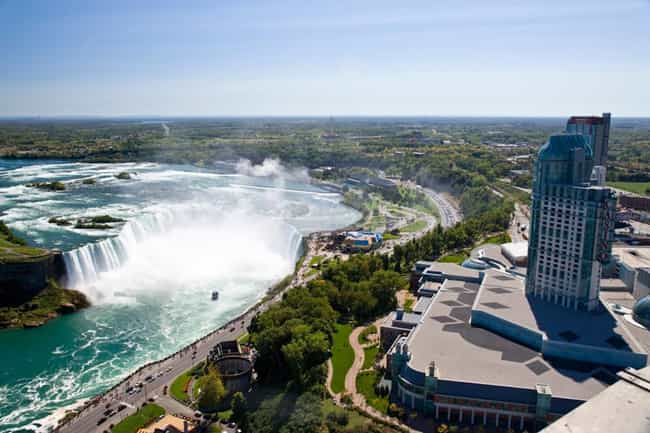 Niagara Falls is listed (or ranked) 3 on the list 30+ Famous Places Seen From a New Perspective