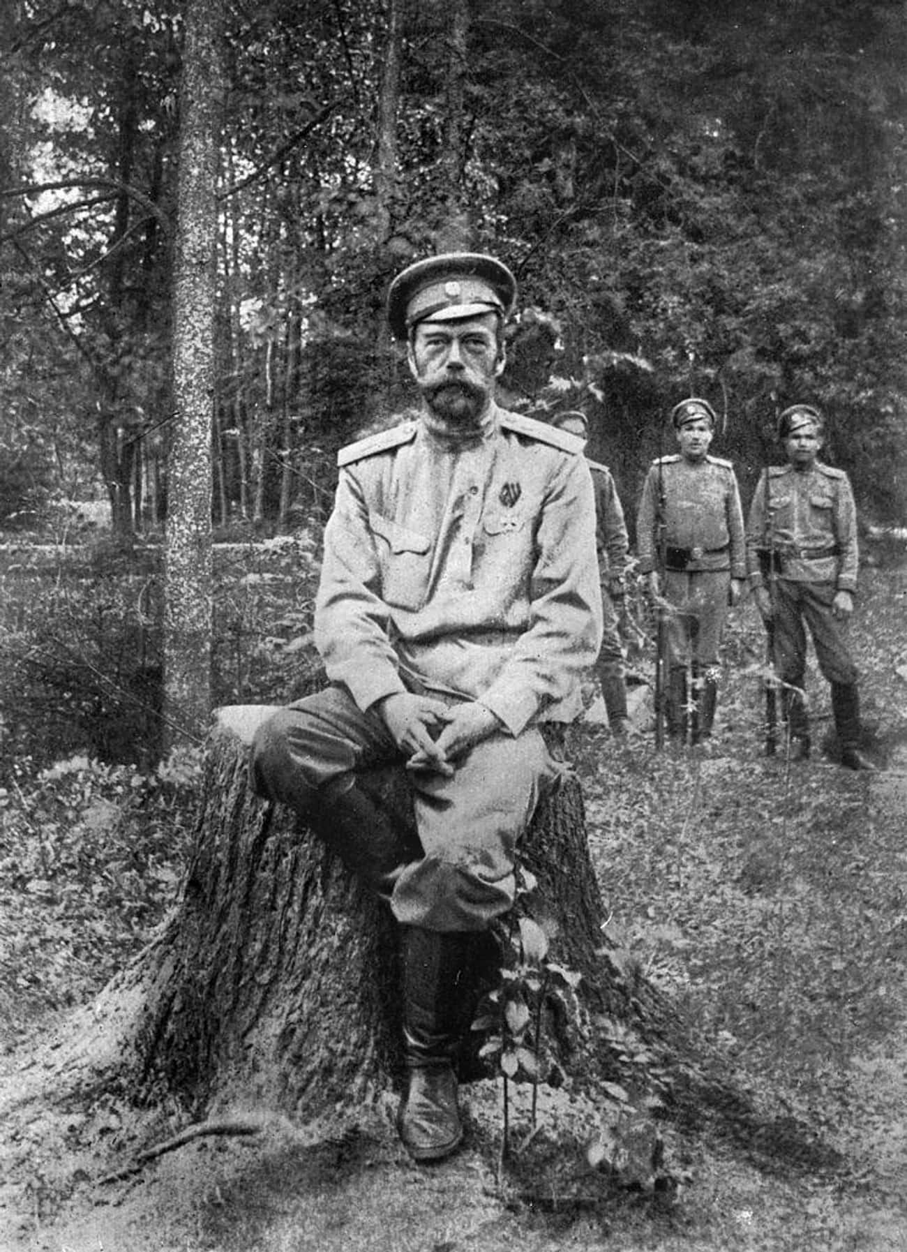 Nicholas II Of Russia is listed (or ranked) 4 on the list 19 World Leaders Who Have Tattoos