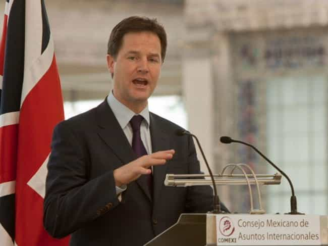 Nick Clegg is listed (or ranked) 4 on the list List of Politicians Who Support Vaping & E-Cigs