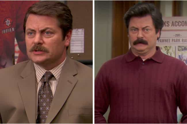 Nick Offerman is listed (or ranked) 2 on the list How the Cast of Parks & Rec Aged from the First to Last Season