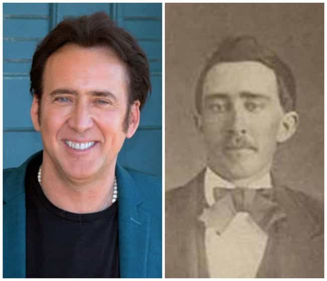 Nicolas Cage is listed (or ranked) 1 on the list 50 Celebrities Who Look Exactly Like People From History