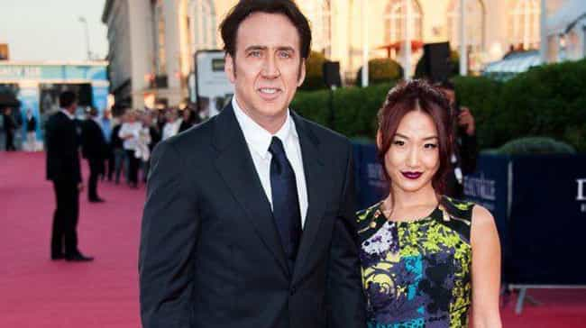 Nicolas Cage is listed (or ranked) 2 on the list 14 Celebrites Who Married People They Barely Knew