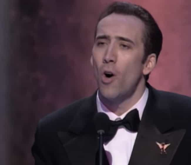 Nicolas Cage is listed (or ranked) 3 on the list Weird Things Academy Award Winning Actors Have Done With Their Oscar Statues
