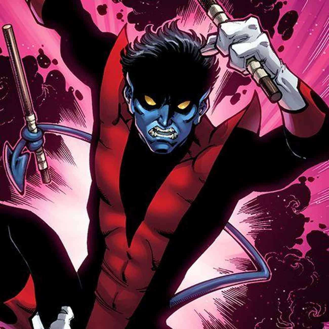 Nightcrawler is listed (or ranked) 1 on the list The Best Comic Book Characters Who Have Yellow Eyes