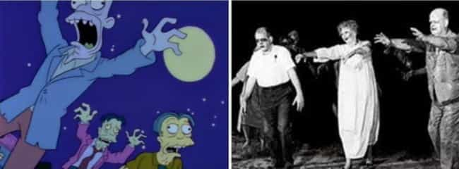Night of the Living Dead is listed (or ranked) 3 on the list Horror Movie References In 'The Simpsons' 'Treehouse Of Horror' Specials