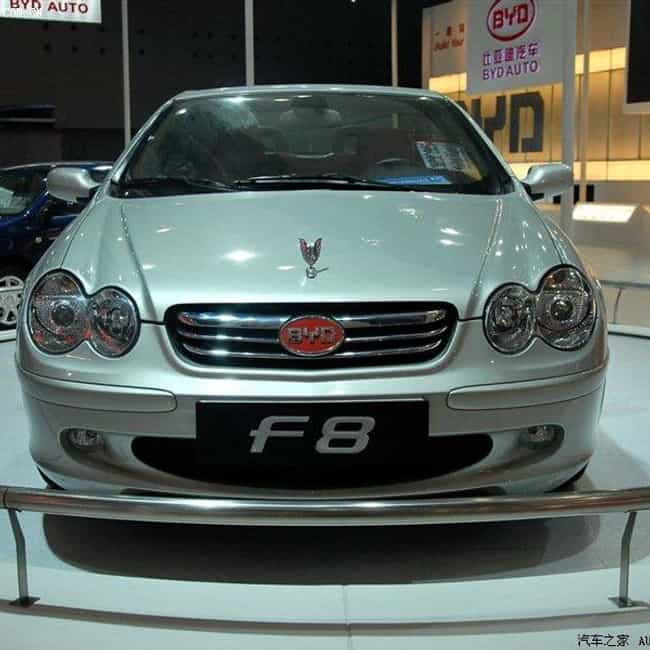 BYD F8 is listed (or ranked) 4 on the list Full List of BYD Models