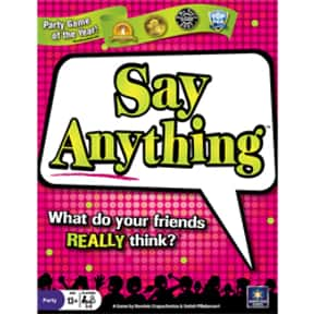 Say Anything is listed (or ranked) 23 on the list The Best Board Games for Parties