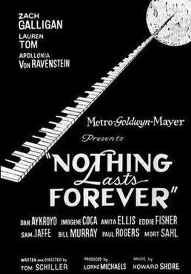 Nothing Lasts Forever is listed (or ranked) 3 on the list Movies You Really Wish You Could Watch On DVD Or Streaming (But Can't)