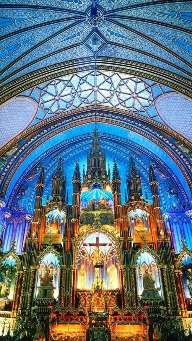 Notre-Dame Basilica is listed (or ranked) 4 on the list Architecture: Most Beautiful Cathedrals/Churches-U.S./Canada