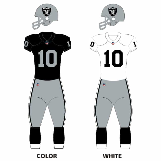 Oakland Raiders is listed (or ranked) 1 on the list The Best Uniforms In The NFL