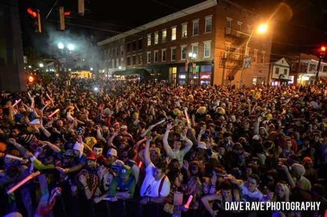 Ohio University is listed (or ranked) 1 on the list The Greatest College Halloween Celebrations in America
