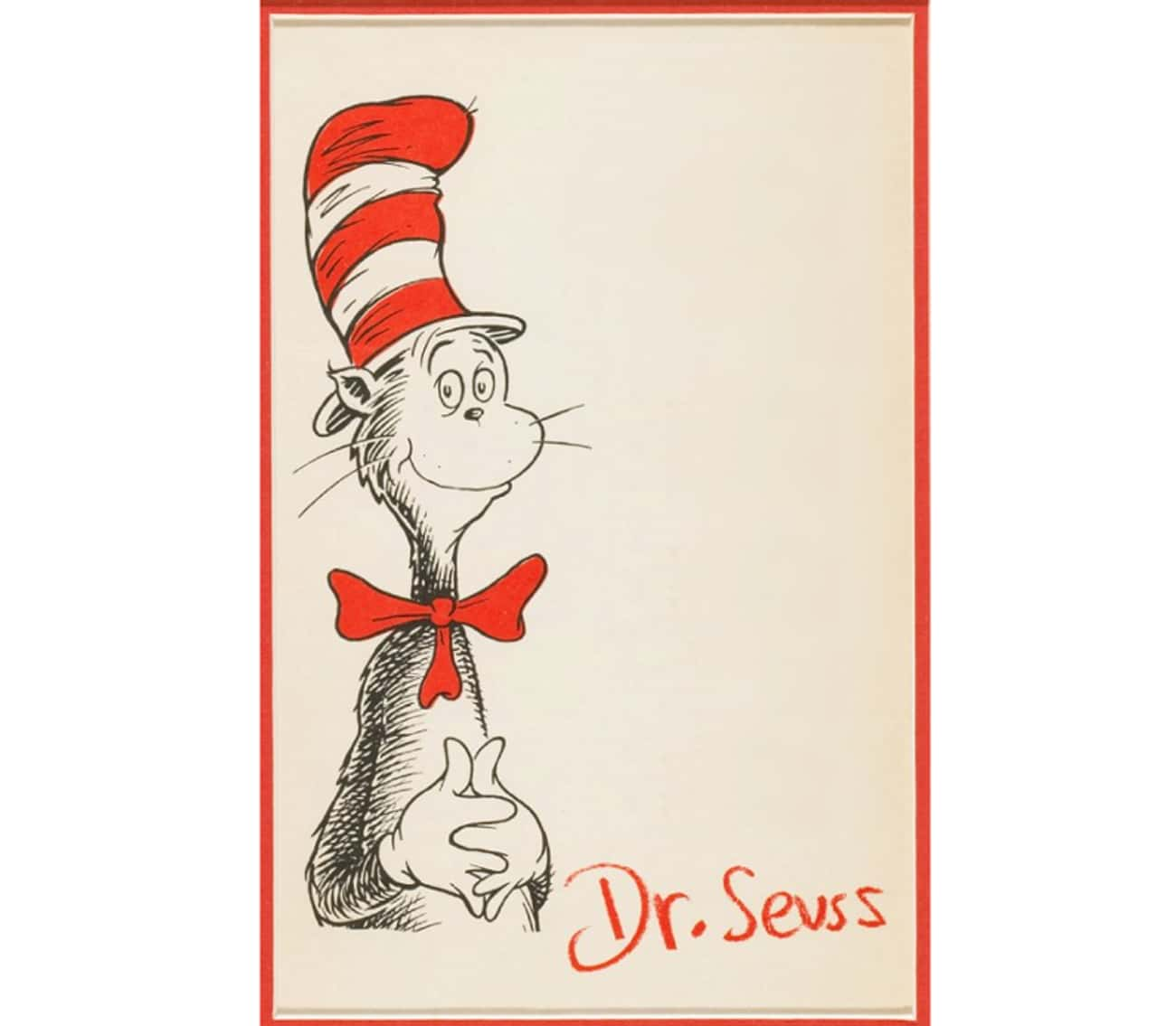 Dr. Seuss Didn't Miss An O is listed (or ranked) 4 on the list Check Out These Letterhead Designs Famous People Used Throughout History