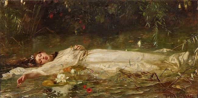 Ophelia is listed (or ranked) 3 on the list Fictional Characters Who Committed Suicide