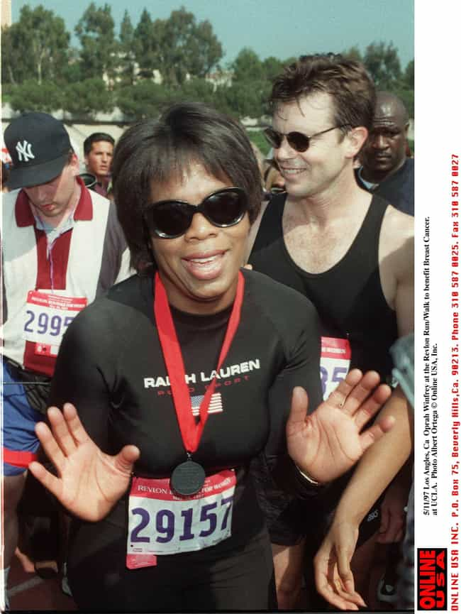 Oprah Winfrey is listed (or ranked) 3 on the list Celebrities Who Have Run Marathons