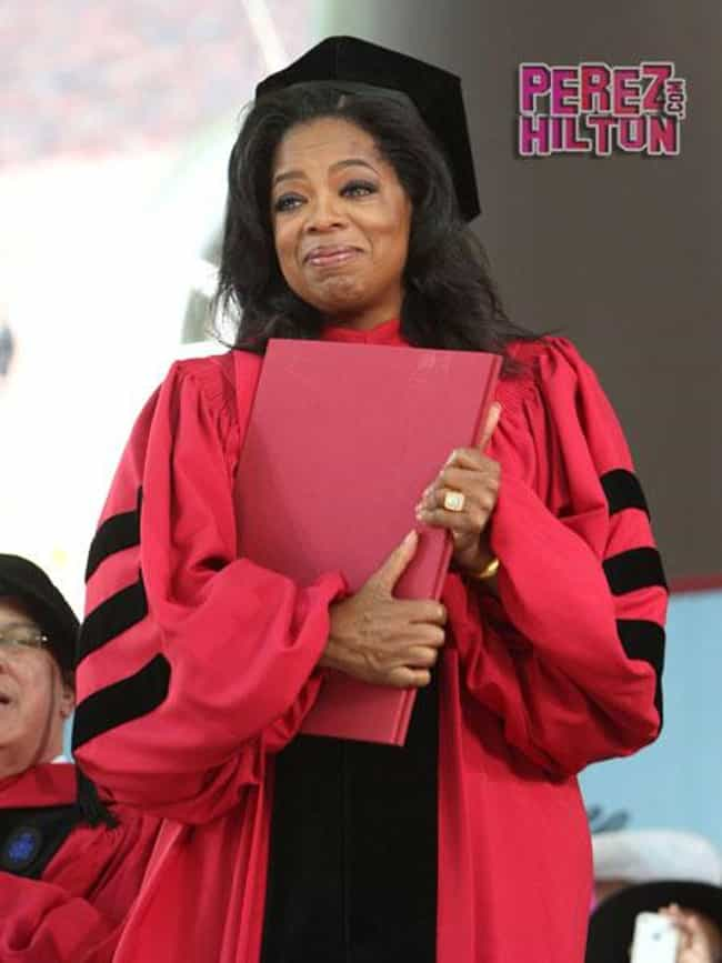 Oprah Winfrey is listed (or ranked) 1 on the list 53 Celebrities with Honorary Degrees from Harvard
